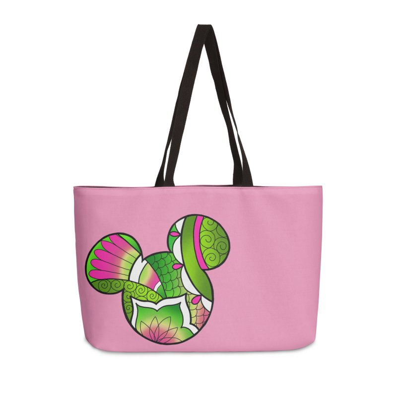 Ornamental Mickey Green Accessories Weekender Bag Bag by Jocelyn Tattoo