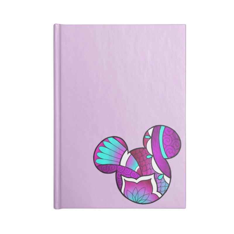 Ornamental Mickey Purple Accessories Blank Journal Notebook by Jocelyn Tattoo