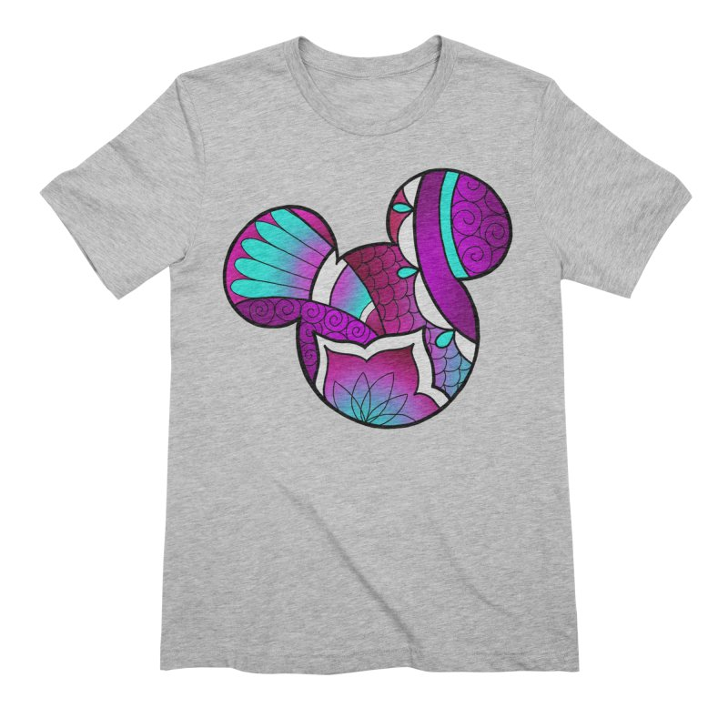 Ornamental Mickey Purple Men's Extra Soft T-Shirt by Jocelyn Tattoo