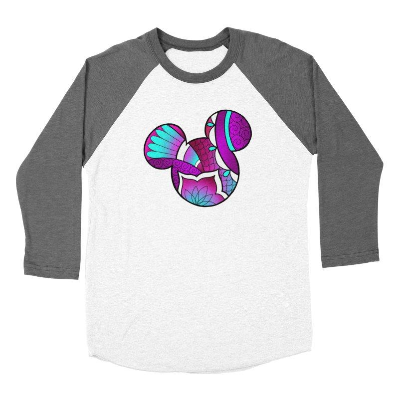 Ornamental Mickey Purple Women's Baseball Triblend Longsleeve T-Shirt by Jocelyn Tattoo