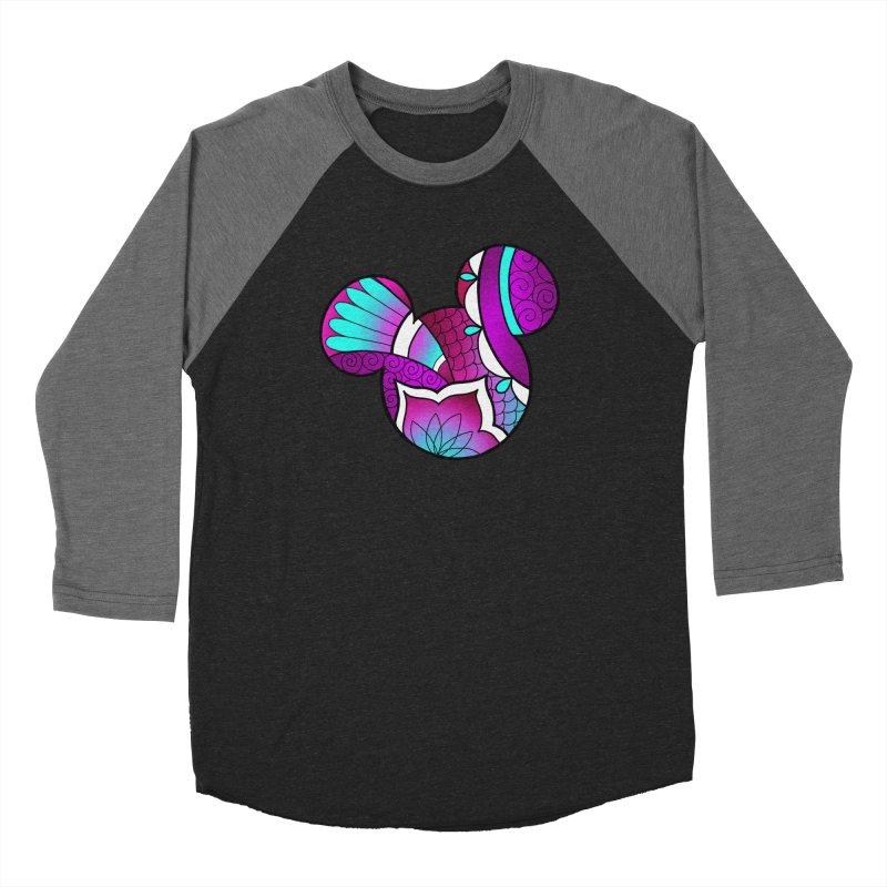 Ornamental Mickey Purple Men's Baseball Triblend Longsleeve T-Shirt by Jocelyn Tattoo