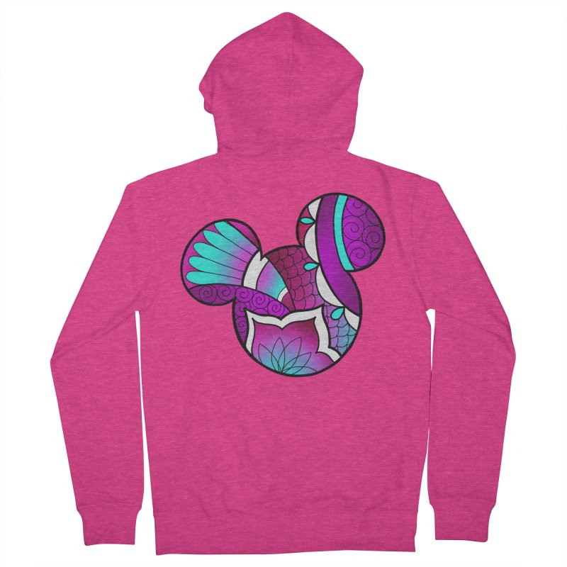 Ornamental Mickey Purple Women's French Terry Zip-Up Hoody by Jocelyn Tattoo