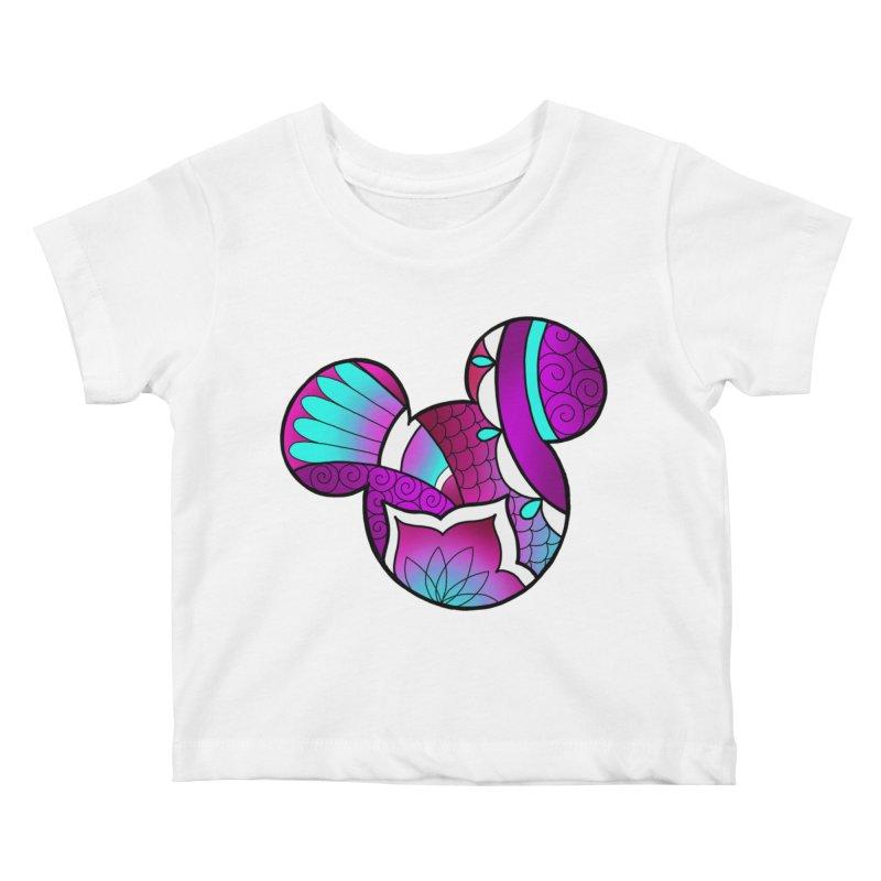 Ornamental Mickey Purple Kids Baby T-Shirt by Jocelyn Tattoo