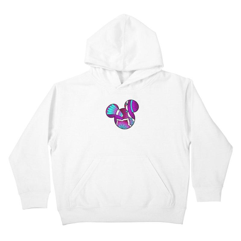 Ornamental Mickey Purple Kids Pullover Hoody by Jocelyn Tattoo