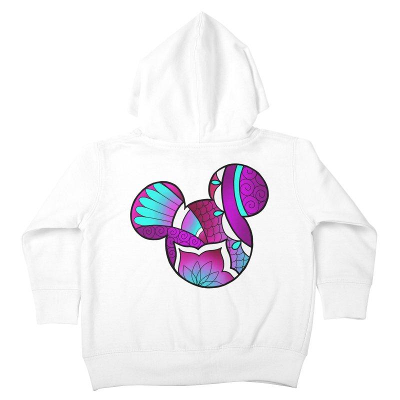 Ornamental Mickey Purple Kids Toddler Zip-Up Hoody by Jocelyn Tattoo