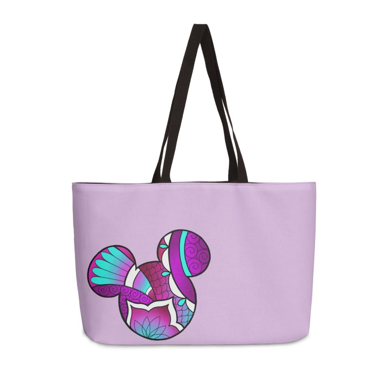 Ornamental Mickey Purple Accessories Weekender Bag Bag by Jocelyn Tattoo