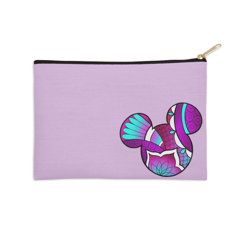Ornamental Mickey Purple Accessories Zip Pouch by Jocelyn Tattoo