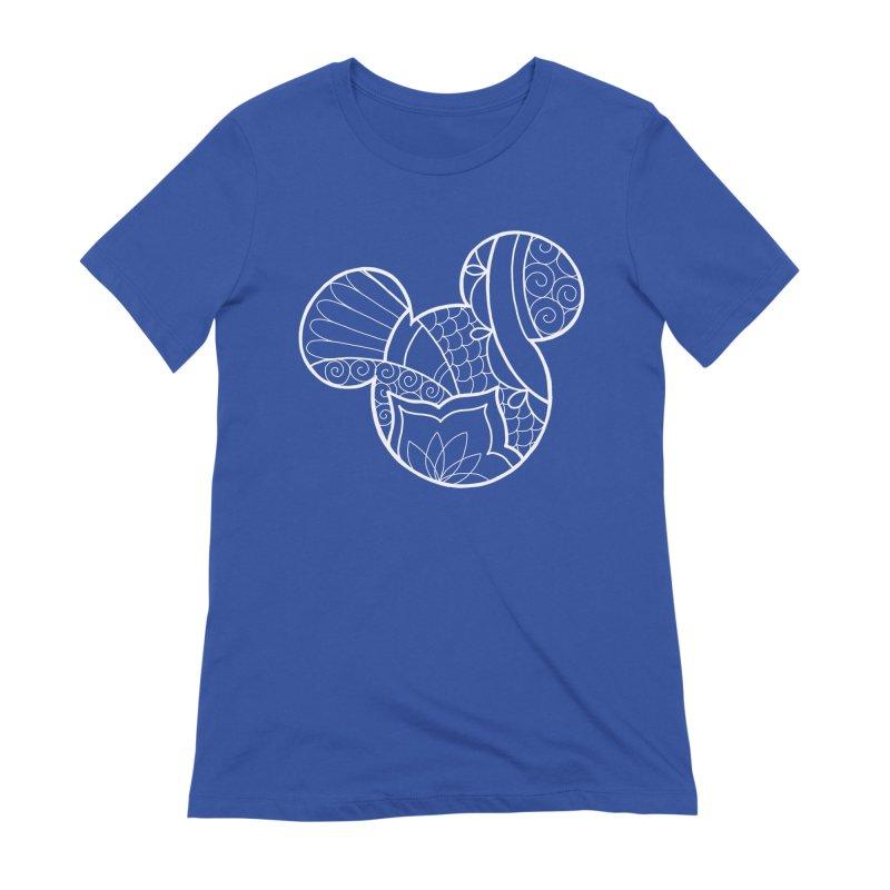 Ornamental Mickey White Women's T-Shirt by Jocelyn Tattoo