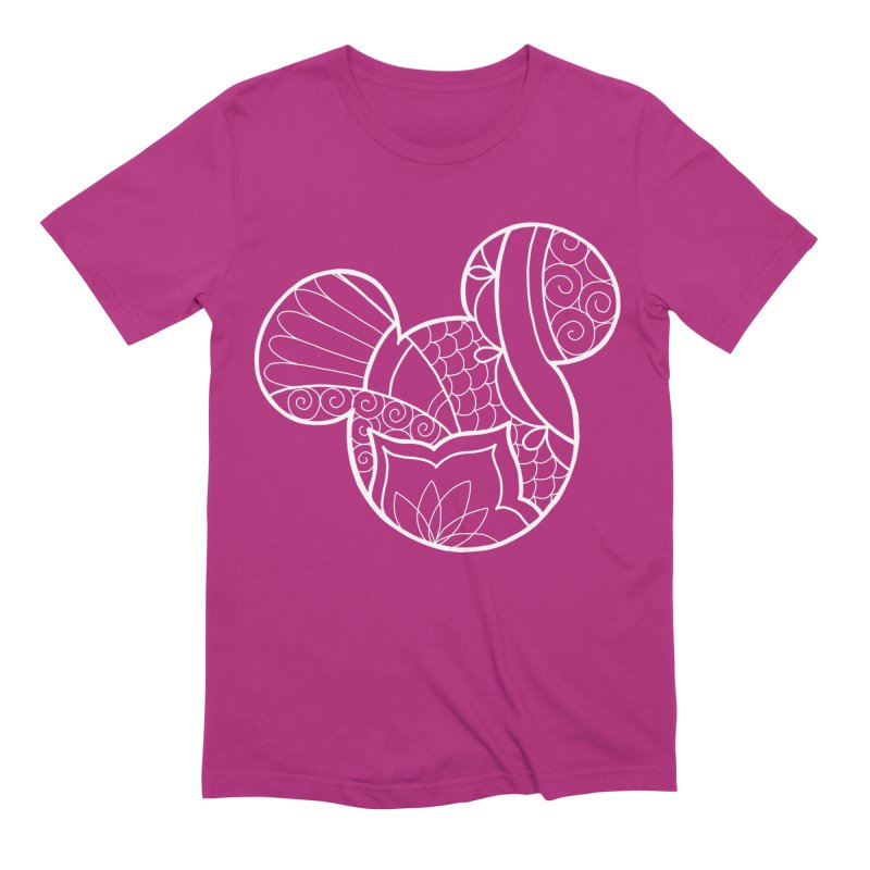 Ornamental Mickey White Men's Extra Soft T-Shirt by Jocelyn Tattoo