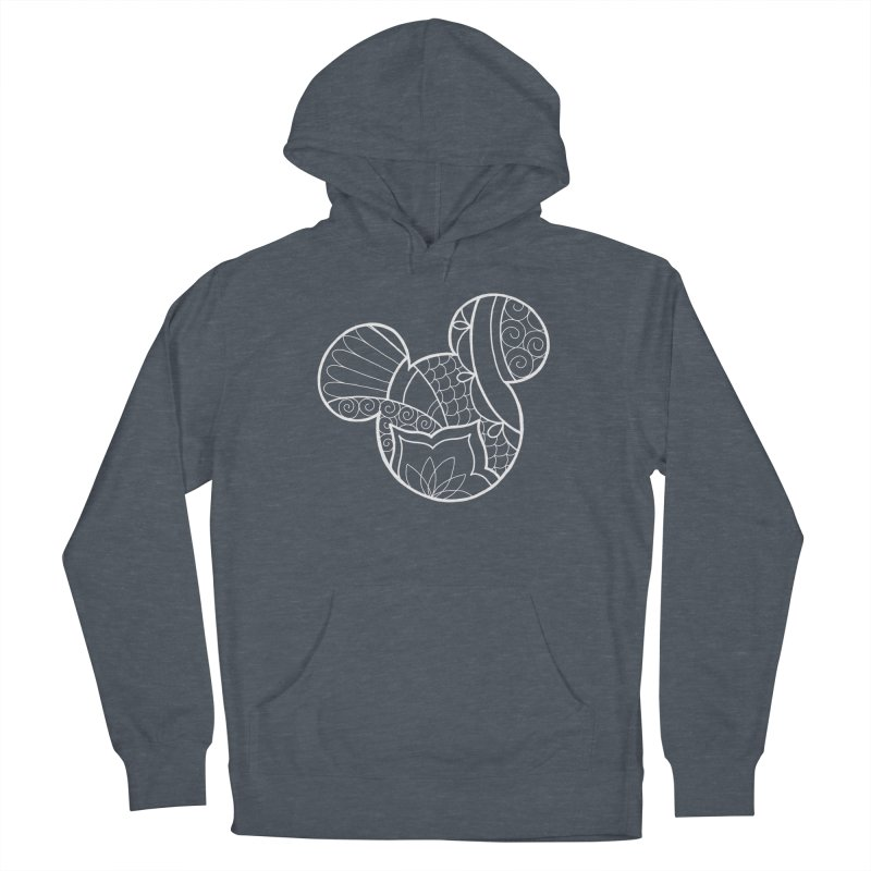Ornamental Mickey White Women's French Terry Pullover Hoody by Jocelyn Tattoo