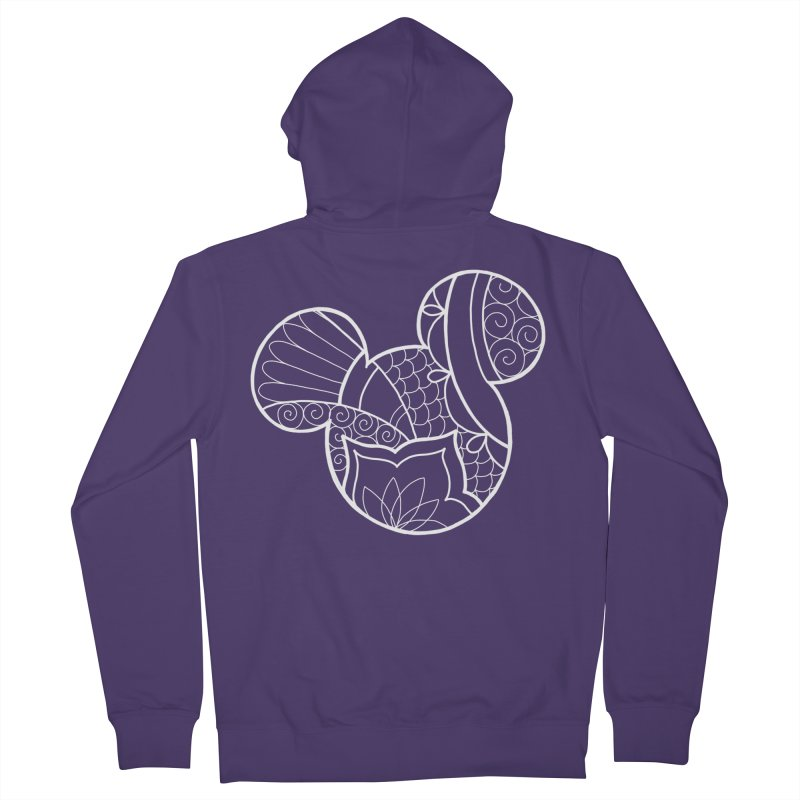 Ornamental Mickey White Women's Zip-Up Hoody by Jocelyn Tattoo