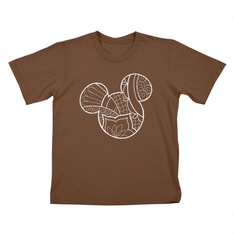 Ornamental Mickey White Kids T-Shirt by Jocelyn Tattoo