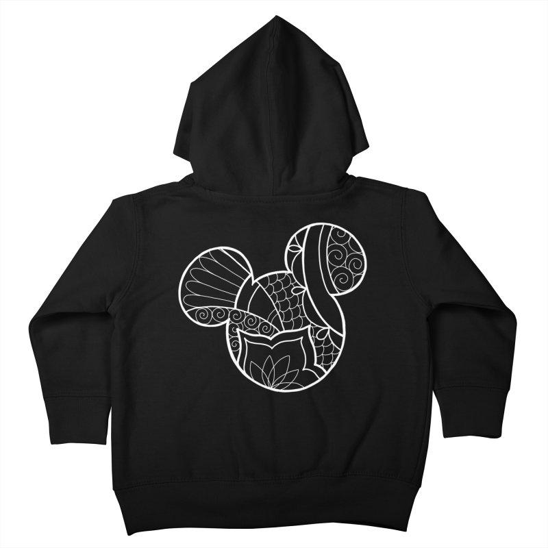 Ornamental Mickey White Kids Toddler Zip-Up Hoody by Jocelyn Tattoo