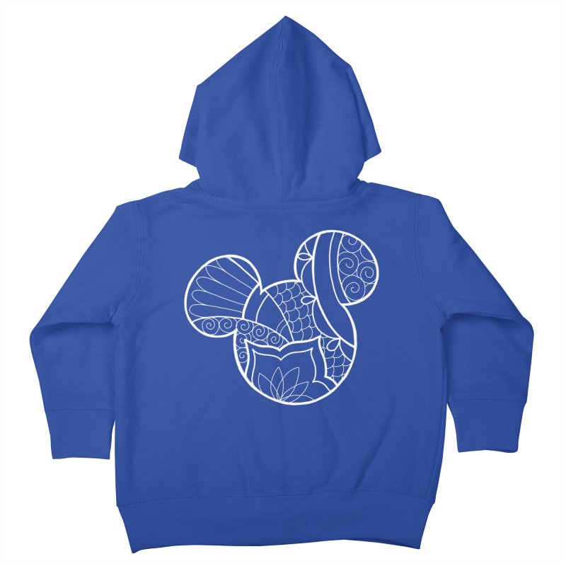 Ornamental Mickey White Kids Toddler Zip-Up Hoody by Jocelyn Tattoo