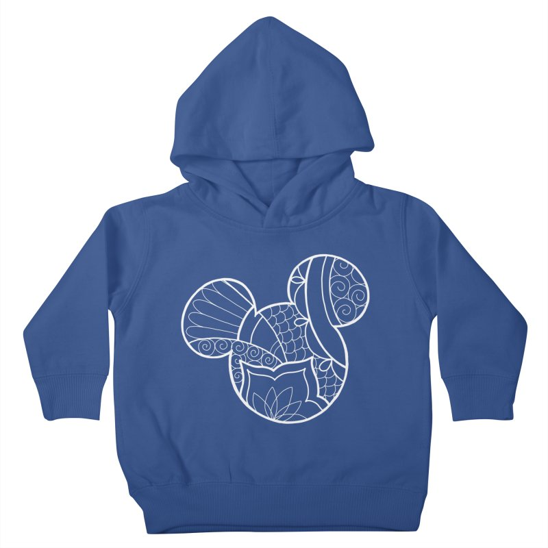 Ornamental Mickey White Kids Toddler Pullover Hoody by Jocelyn Tattoo