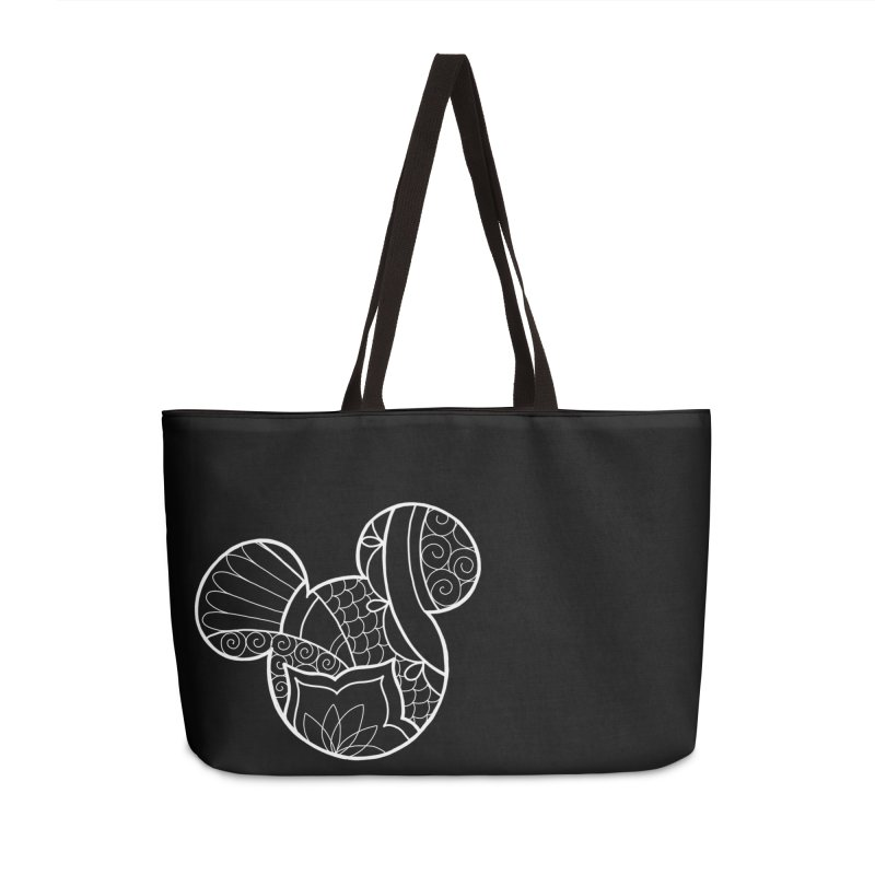 Ornamental Mickey White Accessories Weekender Bag Bag by Jocelyn Tattoo