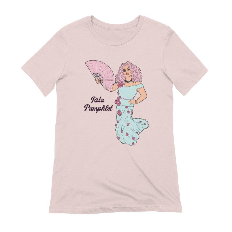 Rita Pamphlet Women's Extra Soft T-Shirt by Jodilynn Doodles's Artist Shop