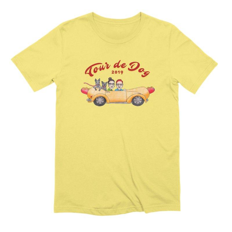 Tour de Dog - 2019 Men's T-Shirt by Jodilynn Doodles's Artist Shop