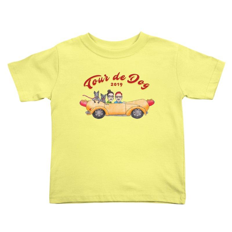 Tour de Dog - 2019 Kids Toddler T-Shirt by Jodilynn Doodles's Artist Shop