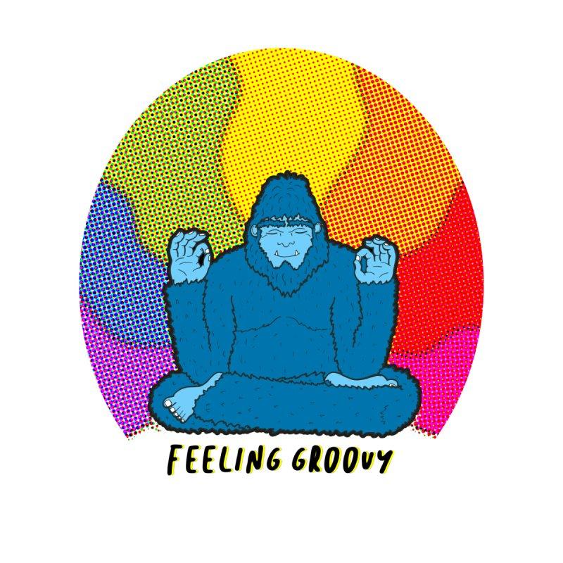 big foot feeling groovy Men's T-Shirt by Jodilynn Doodles's Artist Shop