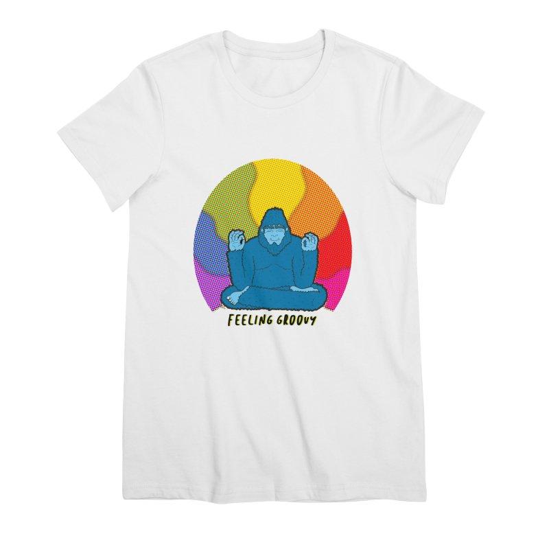 big foot feeling groovy Women's Premium T-Shirt by Jodilynn Doodles's Artist Shop