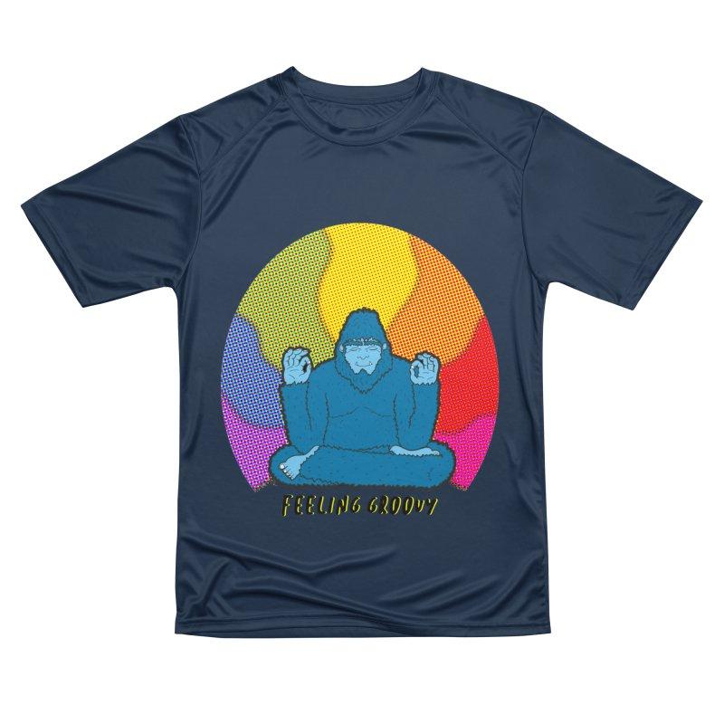 big foot feeling groovy Women's Performance Unisex T-Shirt by Jodilynn Doodles's Artist Shop