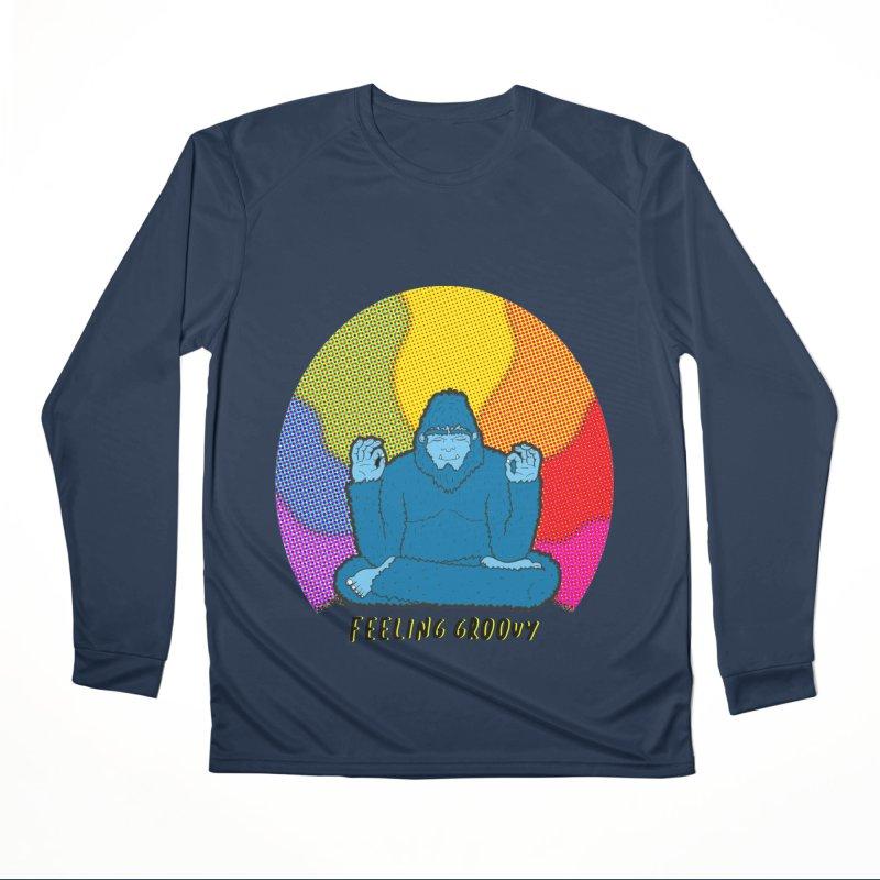 big foot feeling groovy Men's Performance Longsleeve T-Shirt by Jodilynn Doodles's Artist Shop