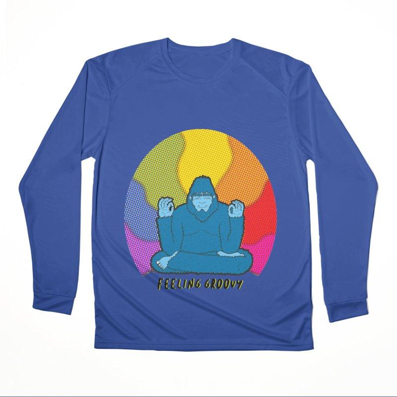 big foot feeling groovy Women's Performance Unisex Longsleeve T-Shirt by Jodilynn Doodles's Artist Shop