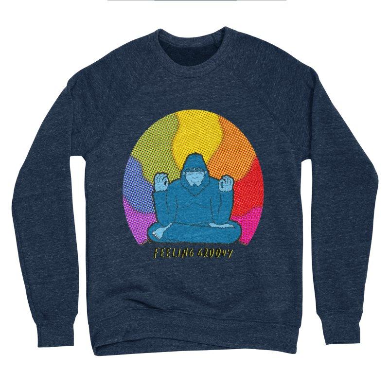 big foot feeling groovy Men's Sponge Fleece Sweatshirt by Jodilynn Doodles's Artist Shop