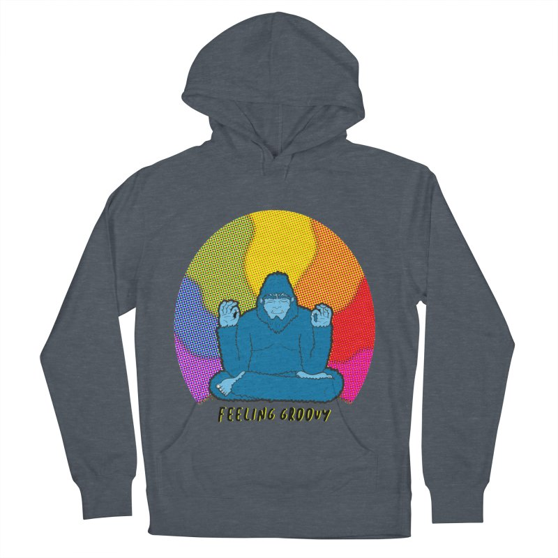 big foot feeling groovy Men's French Terry Pullover Hoody by Jodilynn Doodles's Artist Shop