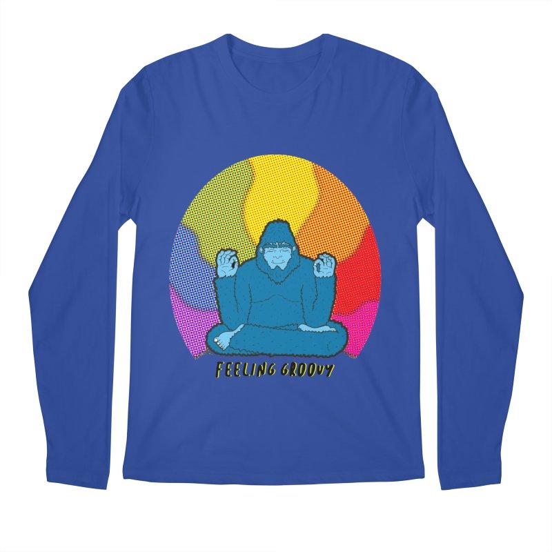 big foot feeling groovy Men's Regular Longsleeve T-Shirt by Jodilynn Doodles's Artist Shop