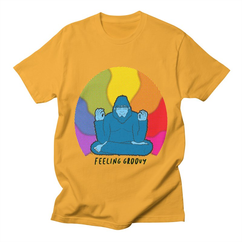 big foot feeling groovy Women's Regular Unisex T-Shirt by Jodilynn Doodles's Artist Shop