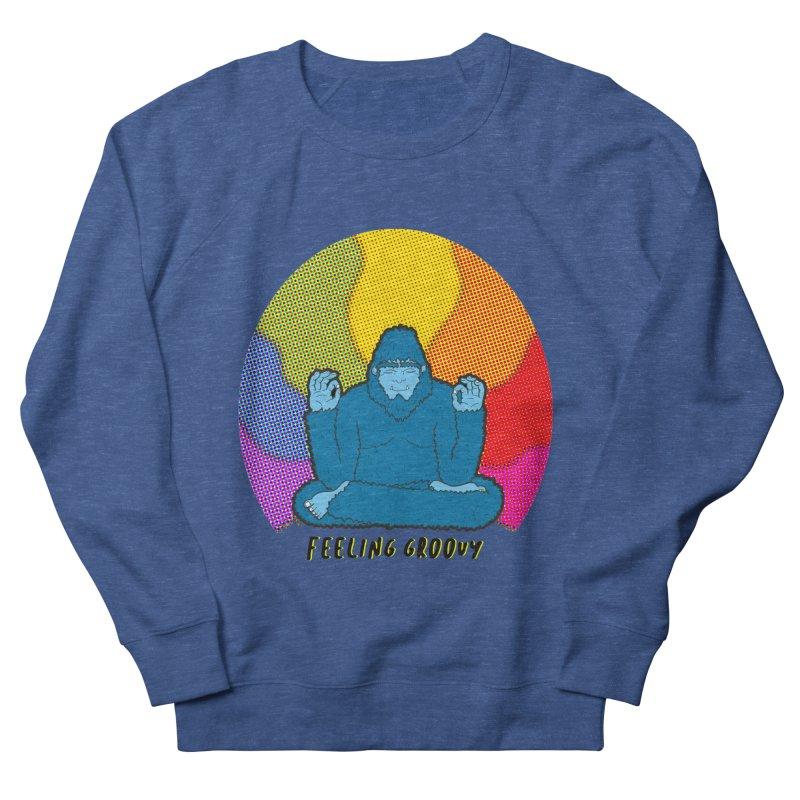 big foot feeling groovy Women's French Terry Sweatshirt by Jodilynn Doodles's Artist Shop