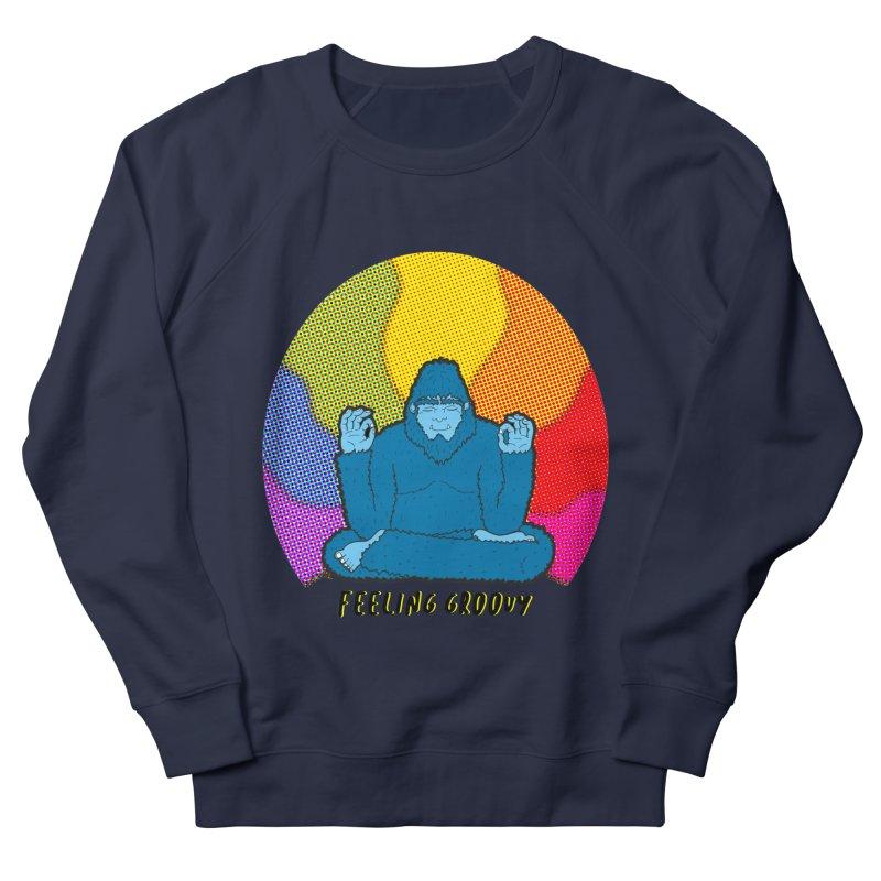 big foot feeling groovy Men's French Terry Sweatshirt by Jodilynn Doodles's Artist Shop