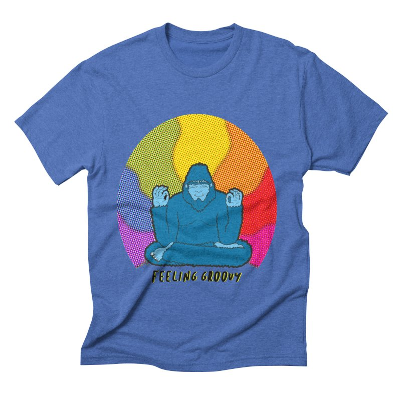 big foot feeling groovy Men's Triblend T-Shirt by Jodilynn Doodles's Artist Shop