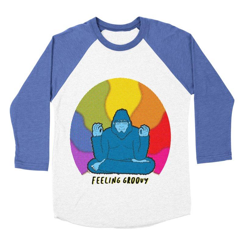 big foot feeling groovy Women's Baseball Triblend Longsleeve T-Shirt by Jodilynn Doodles's Artist Shop