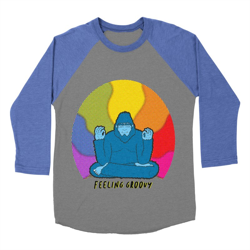 big foot feeling groovy Men's Baseball Triblend Longsleeve T-Shirt by Jodilynn Doodles's Artist Shop