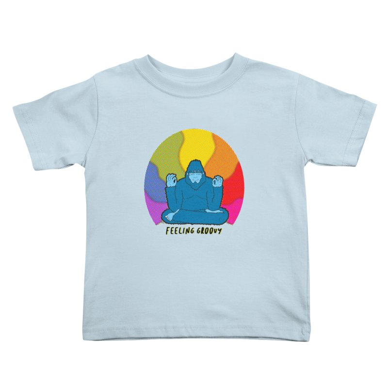 big foot feeling groovy Kids Toddler T-Shirt by Jodilynn Doodles's Artist Shop