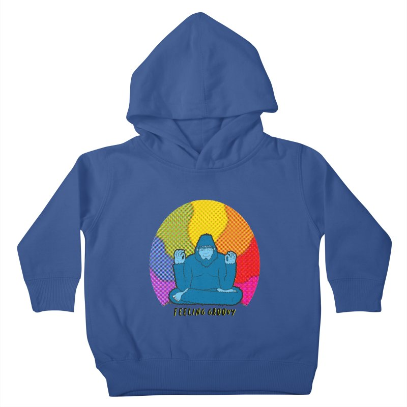 big foot feeling groovy Kids Toddler Pullover Hoody by Jodilynn Doodles's Artist Shop