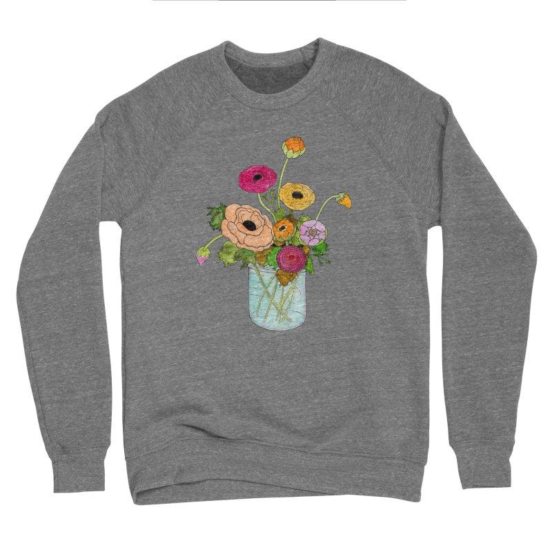 Ranunculus Flowers Men's Sponge Fleece Sweatshirt by Jodilynn Doodles's Artist Shop