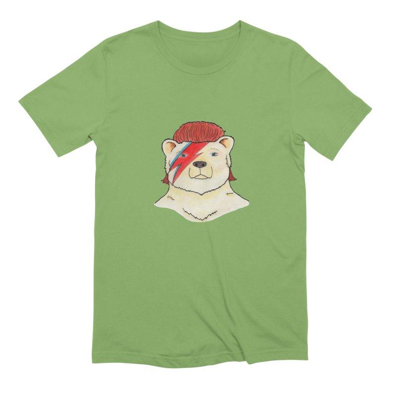 Bowie Bear Men's Extra Soft T-Shirt by Jodilynn Doodles's Artist Shop