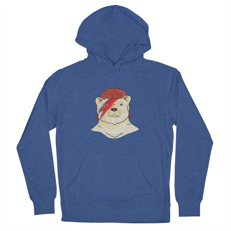 Bowie Bear Men's French Terry Pullover Hoody by jodilynndoodles's Artist Shop