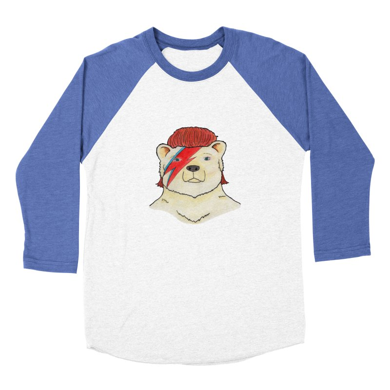 Bowie Bear Men's Baseball Triblend Longsleeve T-Shirt by Jodilynn Doodles's Artist Shop