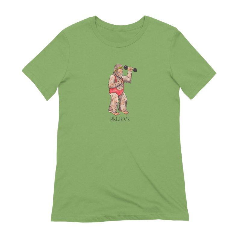 Bigfoot Believe Women's Extra Soft T-Shirt by Jodilynn Doodles's Artist Shop