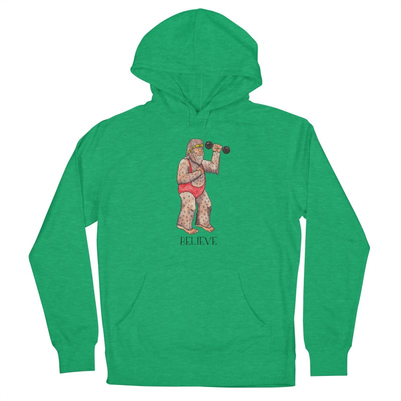 Bigfoot Believe Women's French Terry Pullover Hoody by jodilynndoodles's Artist Shop