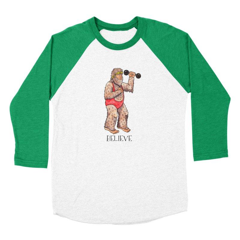 Bigfoot Believe Women's Baseball Triblend Longsleeve T-Shirt by jodilynndoodles's Artist Shop