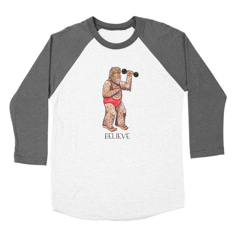 Bigfoot Believe Men's Baseball Triblend Longsleeve T-Shirt by jodilynndoodles's Artist Shop