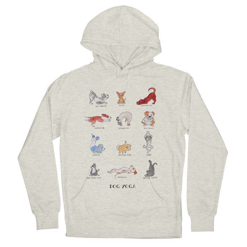 Dog Yoga Women's French Terry Pullover Hoody by jodilynndoodles's Artist Shop