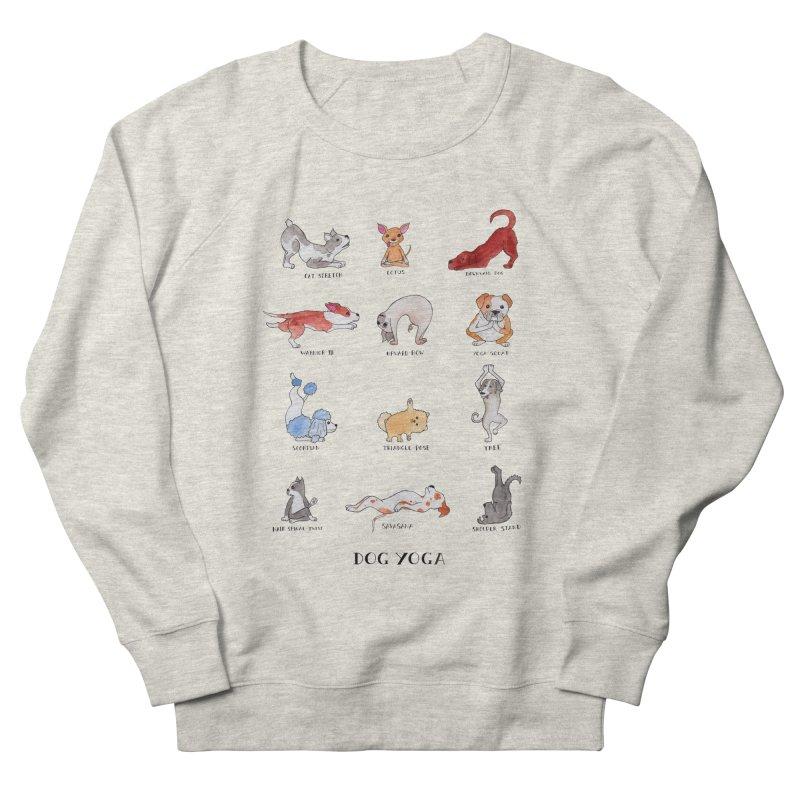 Dog Yoga Women's French Terry Sweatshirt by jodilynndoodles's Artist Shop