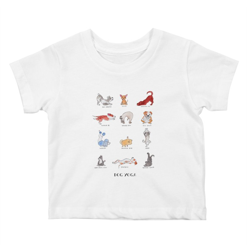 Dog Yoga Kids Baby T-Shirt by jodilynndoodles's Artist Shop